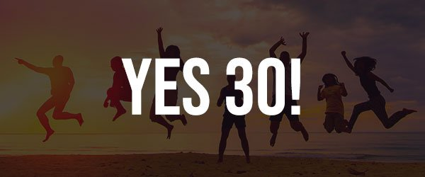 yes to events for 30 people