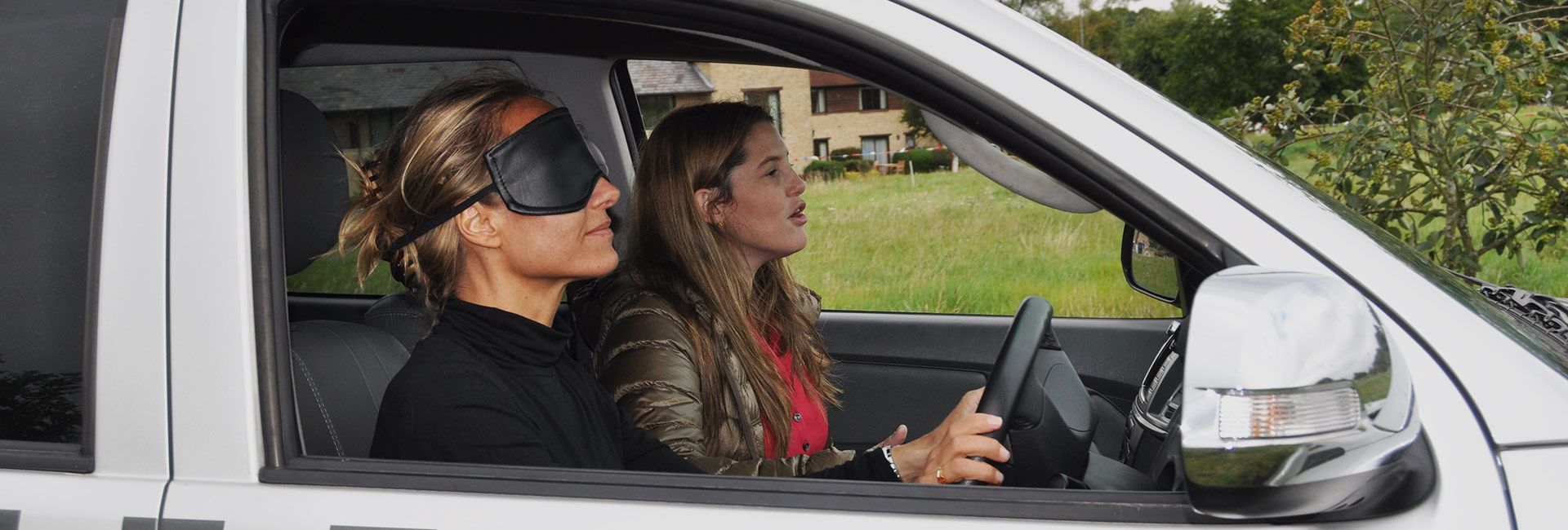 blindfold driving for corporate events